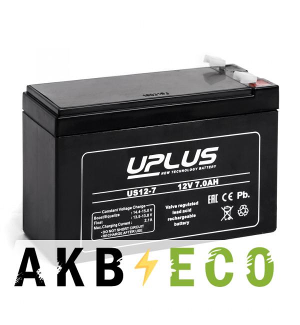 Аккумуляторная батарея Leoch Uplus US12-7 | 12V 7 Aч (151x65x99)