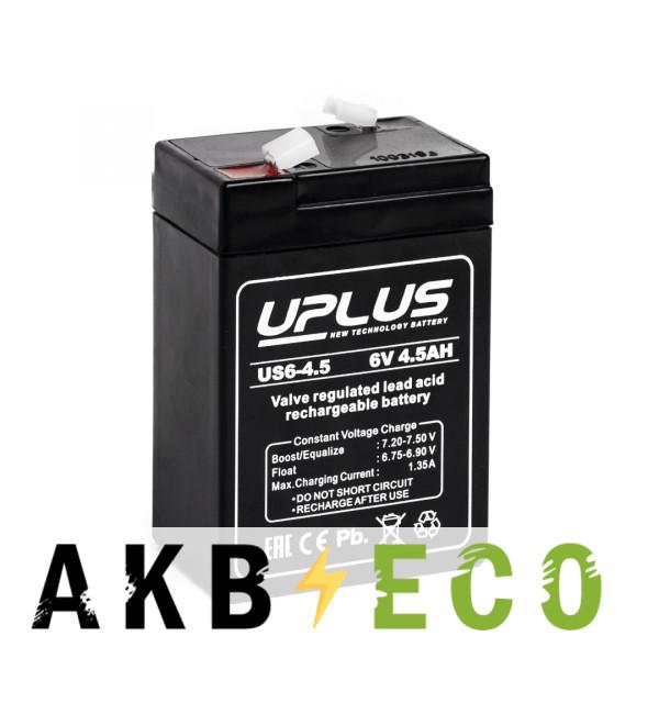 Аккумуляторная батарея Leoch Uplus US6-4.5 | 12V 4.5 Aч (70x47x106)