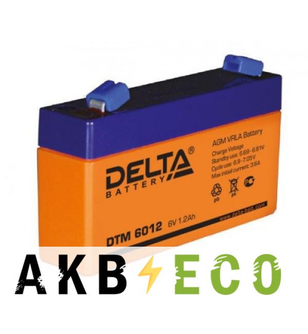 Аккумуляторная батарея Delta DTM 6012, 6V 1.2Ah (97x24x52)