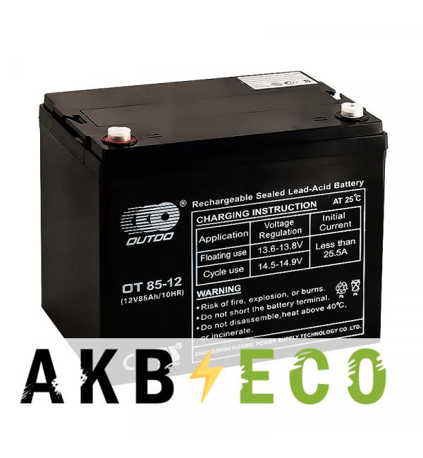Аккумуляторная батарея OUTDO VRLA 12V 85 Ah (OT85-12) 260x169x222
