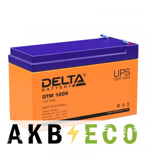 Аккумуляторная батарея Delta DTM 1209, 12V 9Ah (151x65x94)