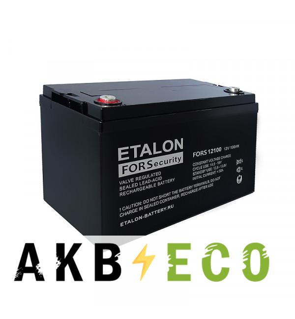 Аккумуляторная батарея ETALON FS 12100 (12V 100 Aч 330x171x214)