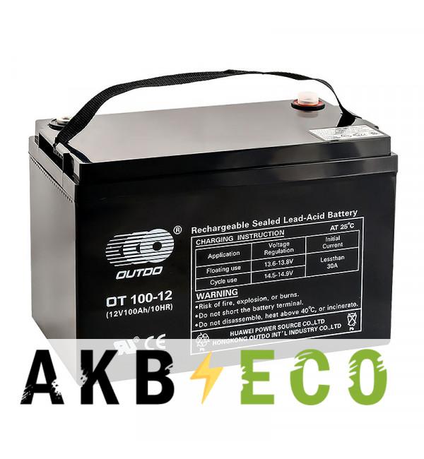 Аккумуляторная батарея OUTDO VRLA 12V 12 Ah (OT100-12) 330x172x221