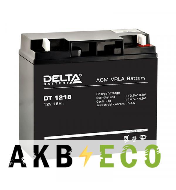 Аккумуляторная батарея Delta DT 1218, 12V 18Ah (181x76x168)