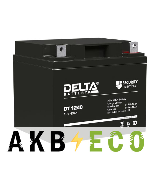 Аккумуляторная батарея Delta DT 1240, 12V 40Ah (198x166x170)