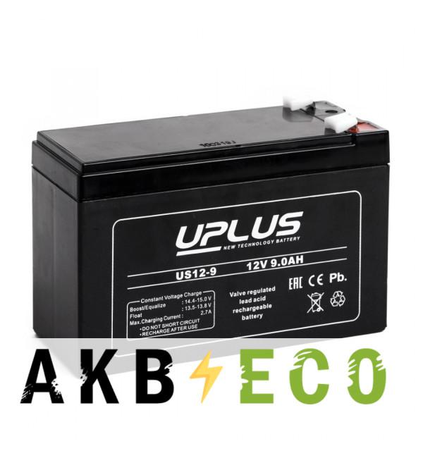 Аккумуляторная батарея Leoch Uplus US12-9 | 12V 8.6 Aч (151x65x99)