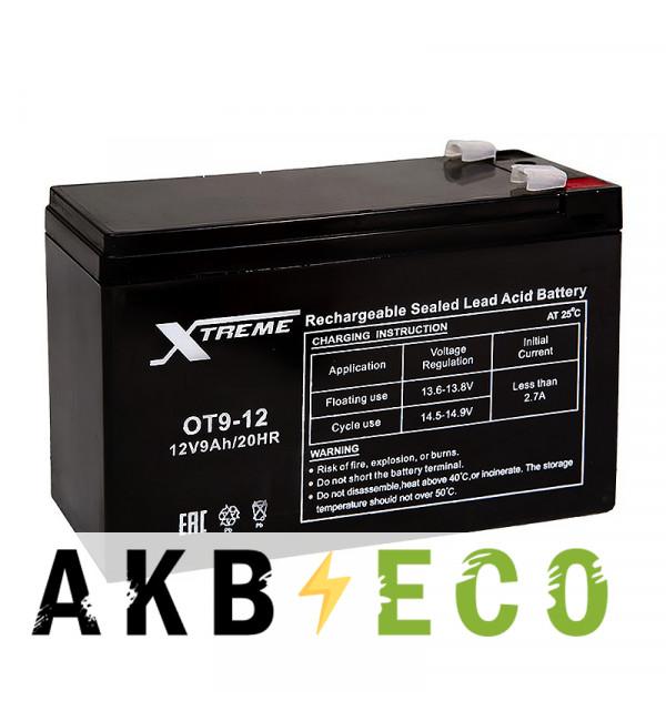 Аккумуляторная батарея Xtreme VRLA 12V 9 Ah (OT9-12) 151х65х94