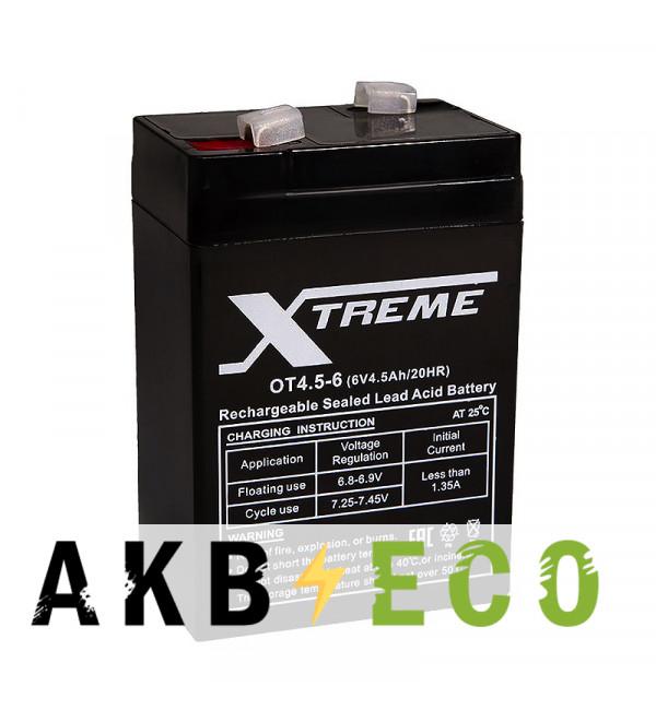 Аккумуляторная батарея Xtreme VRLA 6V 4.5 Ah (OT4.5-6) 70x48x100