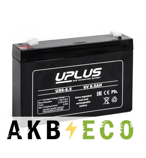 Аккумуляторная батарея Leoch Uplus US6-8.5 | 6V 8.5 Aч (151x94x100)