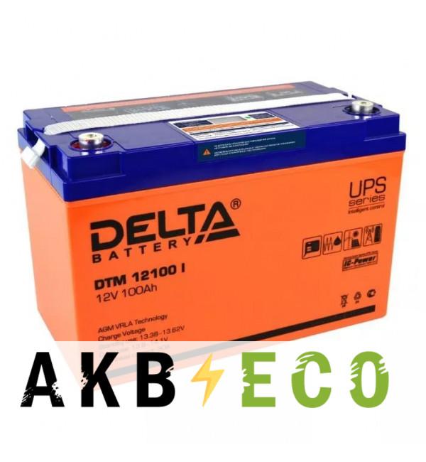 Аккумуляторная батарея Delta DTM 12100 L, 12V 100 Ач (329x174x215)