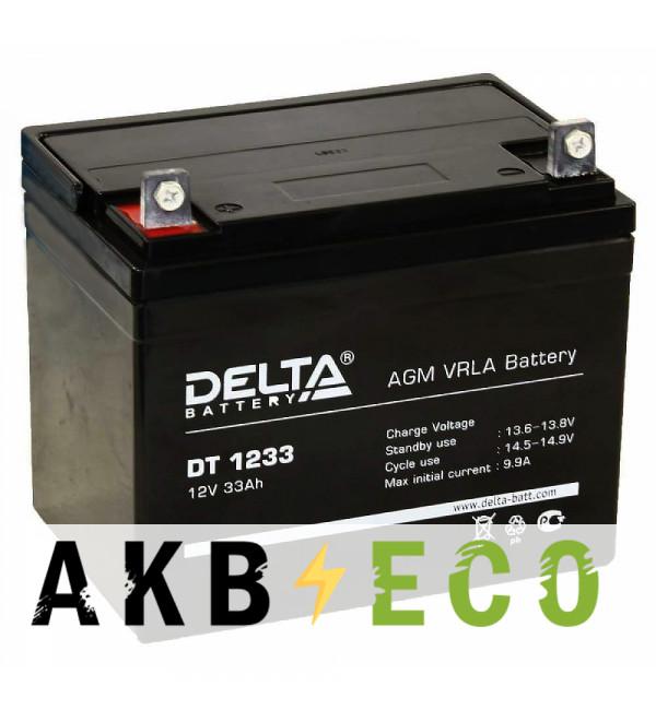 Аккумуляторная батарея Delta DT 1233, 12V 33Ah (197x131x163)