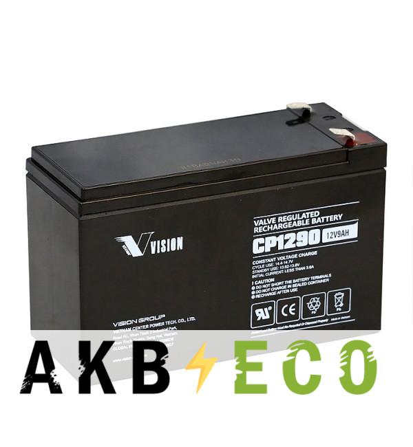 Аккумуляторная батарея VISION CP1290 (12V 9 Aч 151x65x100)
