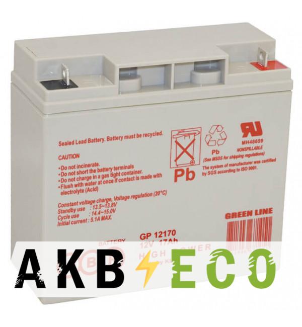 Аккумуляторная батарея WBR GP 12170 12V 17 Ah (181x77x167)