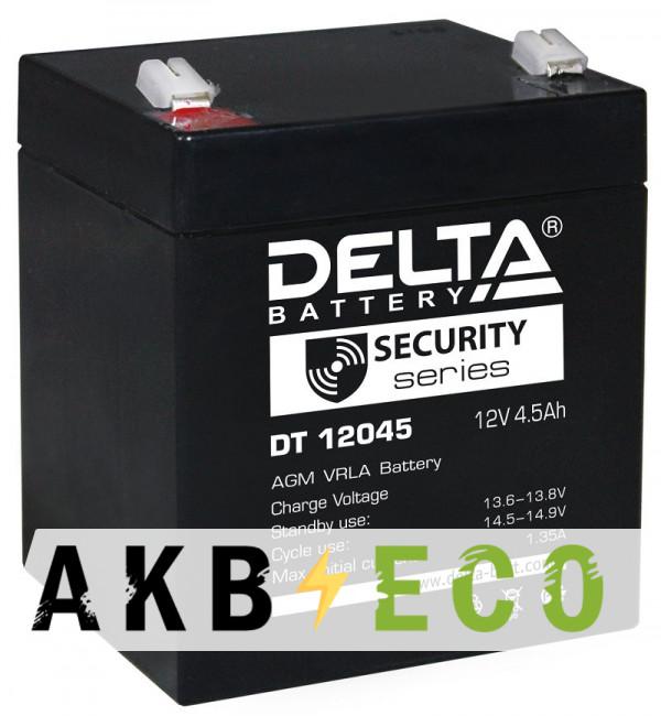 Аккумуляторная батарея Delta DT 12045, 12V 4.5Ah (90х70х102)