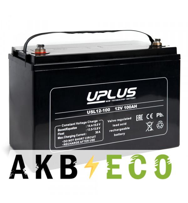 Аккумуляторная батарея Leoch Uplus USL12-100 | 12V 100 Aч (330x173x220)