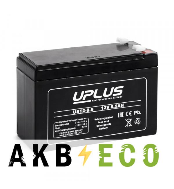 Аккумуляторная батарея Leoch Uplus US12-8.5 | 12V 8.5 Aч (151x65x99)