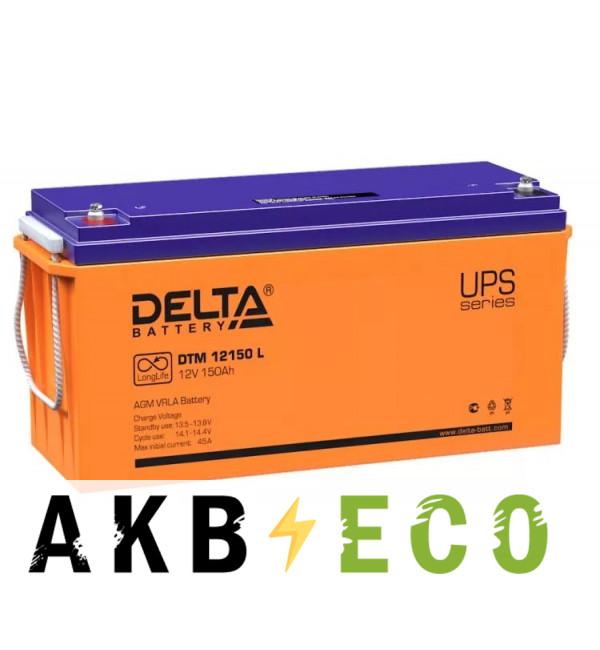 Аккумуляторная батарея Delta DTM 12150 L, 12V 150 Ач (482x170x240)