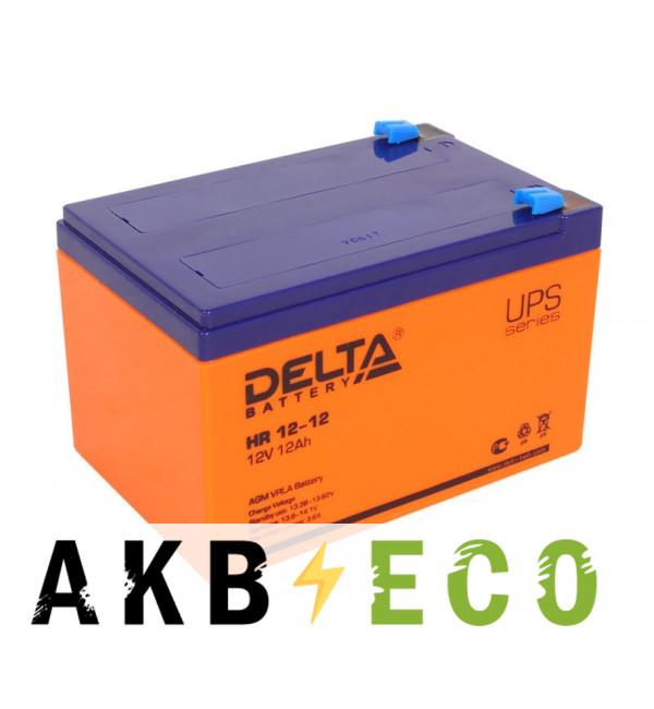 Аккумуляторная батарея Delta HR 12-12, 12V 12Ah (151x98x101)