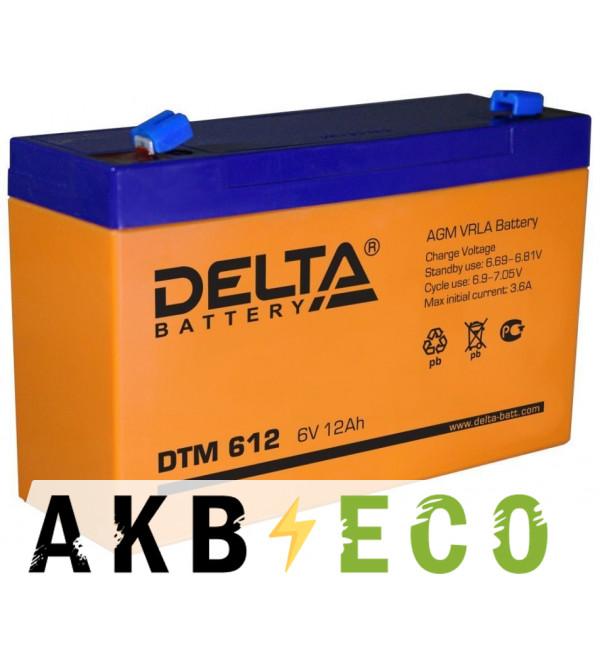 Аккумуляторная батарея Delta DTM 612, 6V 12Ah (151x50x94)