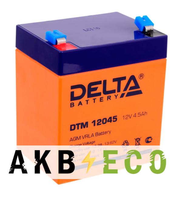 Аккумуляторная батарея Delta DTM 12045, 12V 4.5Ah (90х70х102)