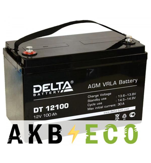 Аккумуляторная батарея Delta DT 12100, 12V 100Ah (329x174x215)
