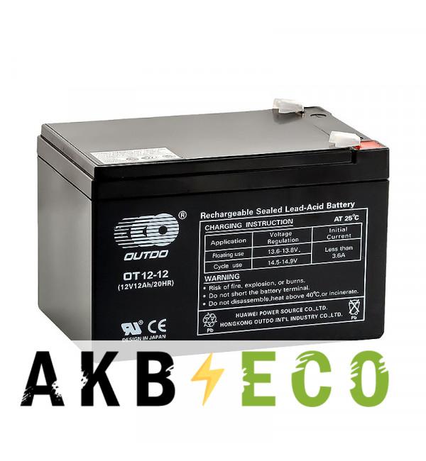 Аккумуляторная батарея OUTDO VRLA 12V 12 Ah (OT12-12) 151x98x100