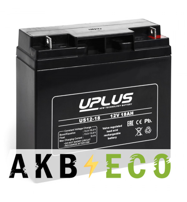 Аккумуляторная батарея Leoch Uplus US12-18 | 12V 18 Aч (181,5x77x167)