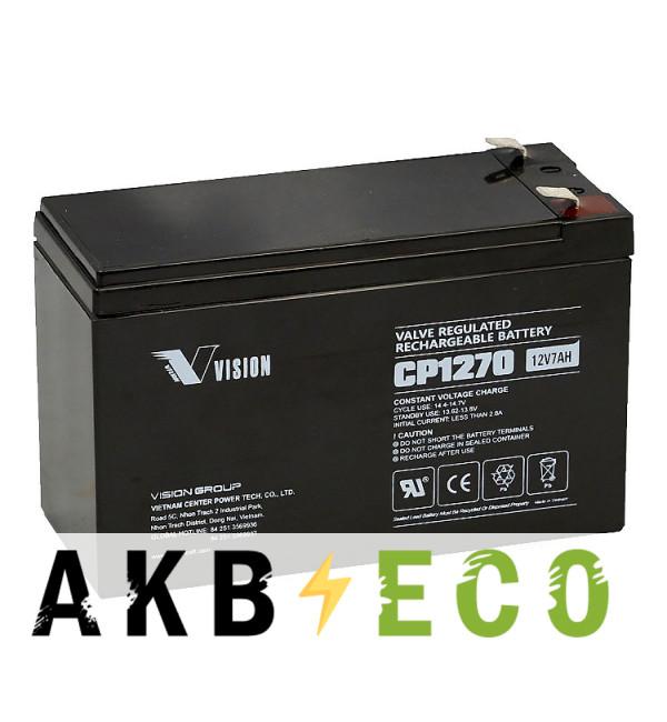 Аккумуляторная батарея VISION CP1270 (12V 7 Aч 151x65x100)