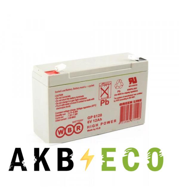 Аккумуляторная батарея WBR GP 6120 6V 12 Ah (151х50х99)