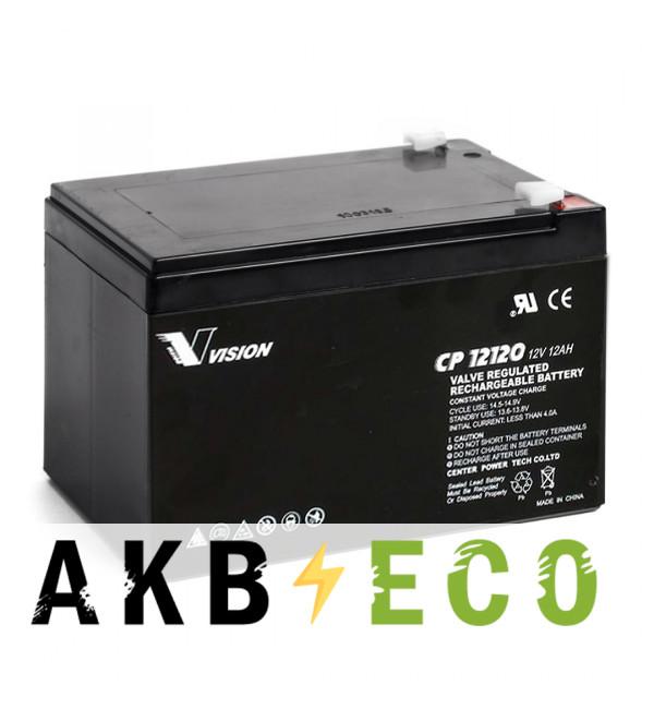 Аккумуляторная батарея VISION CP12120 (12V 12 Aч 151x98x100)