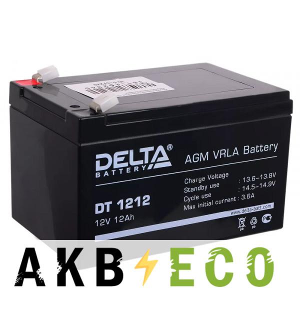 Аккумуляторная батарея Delta DT 1212, 12V 12Ah (151x98x101)