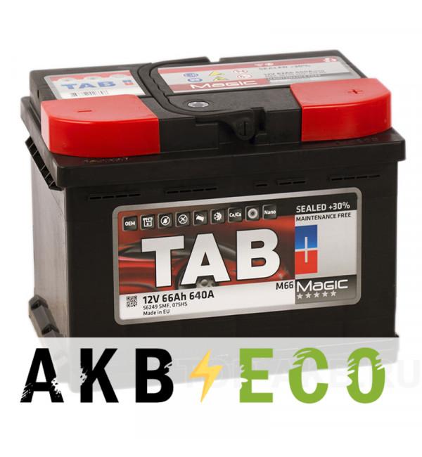 Автомобильный аккумулятор Tab Magic 66R (640A 242x175x190) 189065 56649