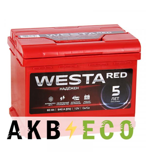 Автомобильный аккумулятор Westa 60L 640A 242x175x190