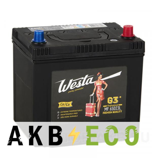 Автомобильный аккумулятор Westa 65D23L (60R 520A 232x173x225)