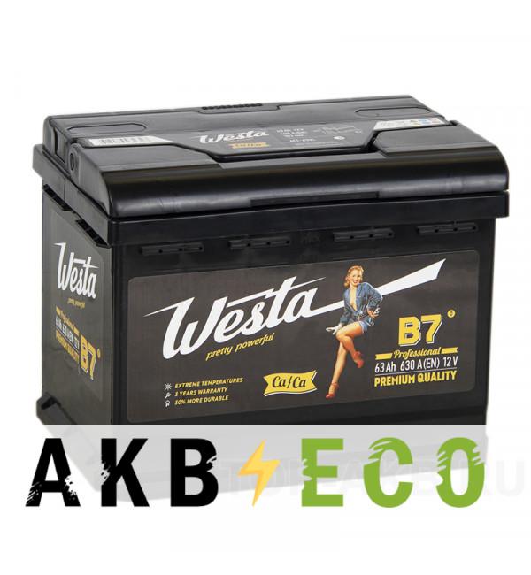 Автомобильный аккумулятор Westa 63L 630A 242x175x190