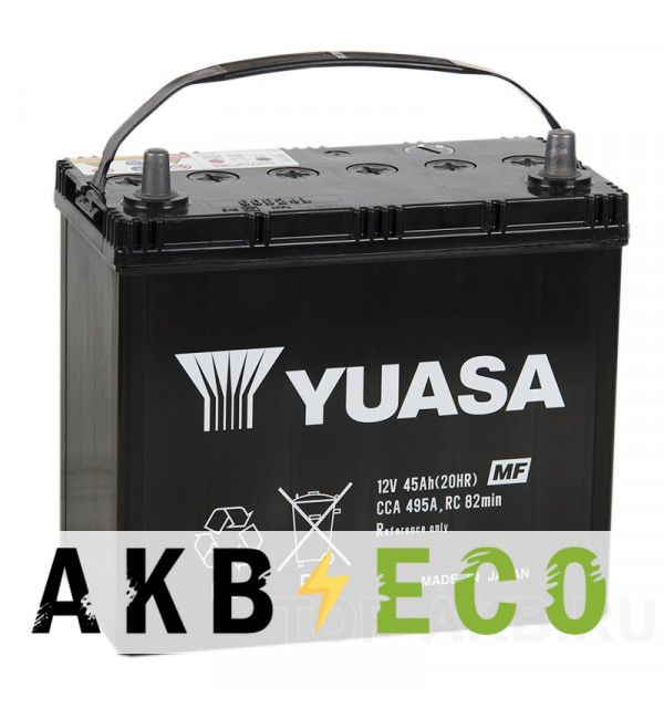 Автомобильный аккумулятор YUASA 60B24L (45R 495A 238x128x227)