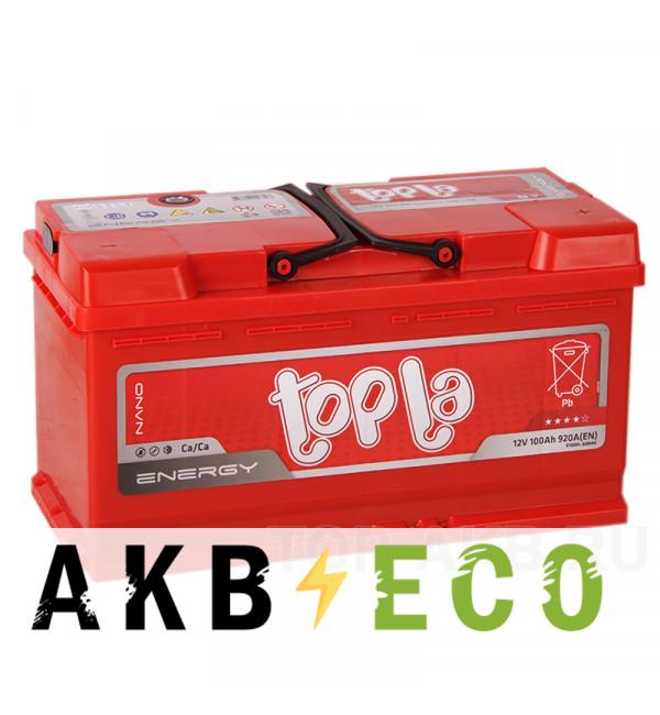 Автомобильный аккумулятор Topla Energy 100R (900A 353x175x190) 108400 60044