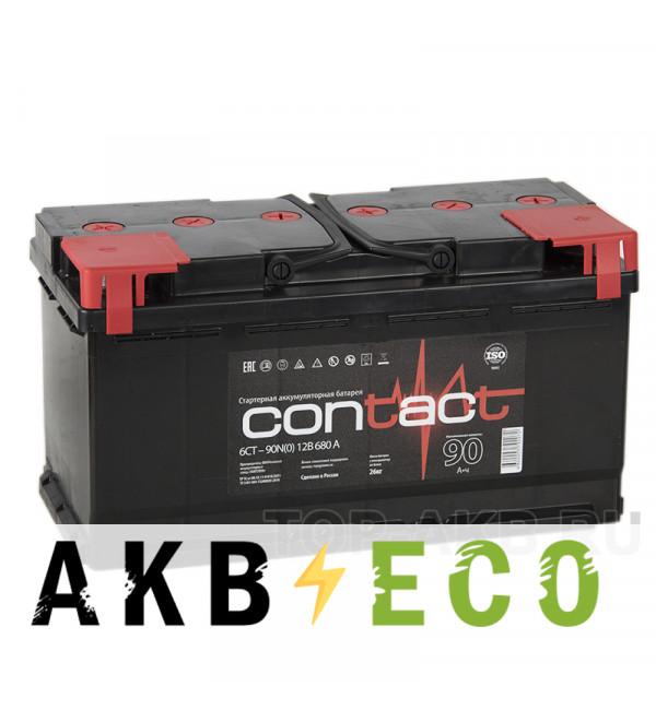 Автомобильный аккумулятор Contact 90R 680А 353x175x190