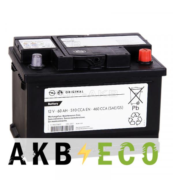 Автомобильный аккумулятор GM 60 Ач обратная пол. 510А (242x175x175) 95523432