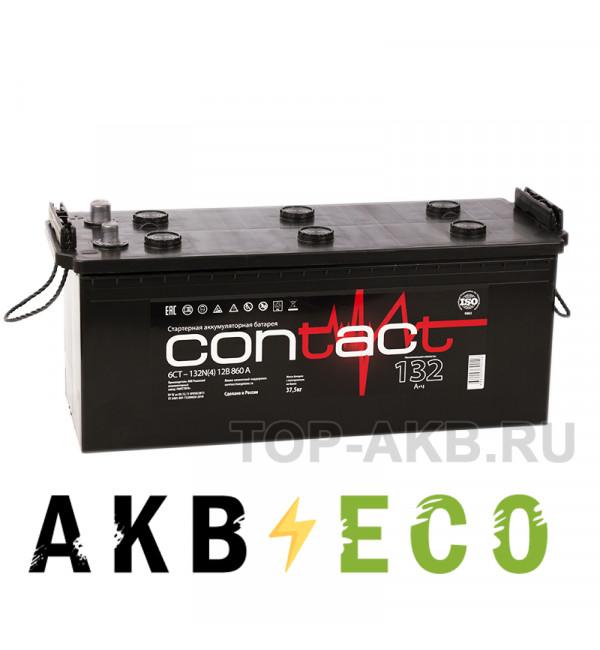 Автомобильный аккумулятор Contact 132 евро 860A 513x189x223