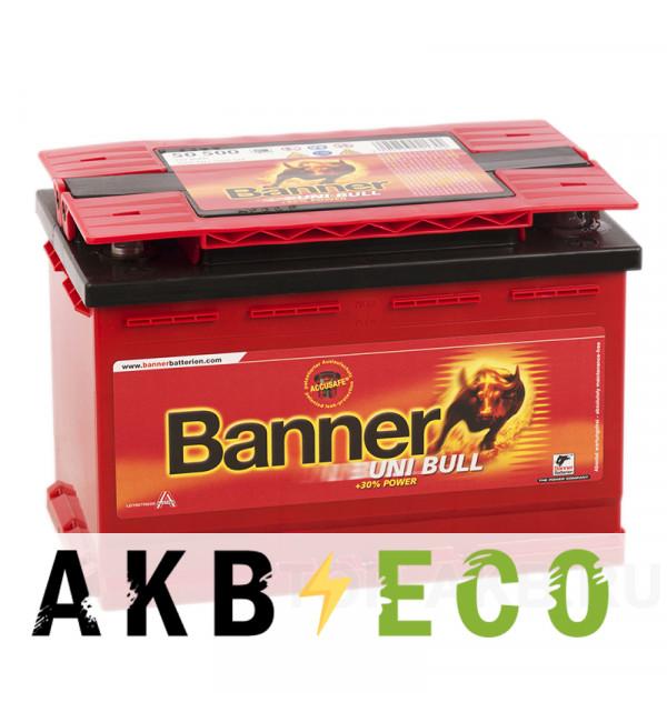 Автомобильный аккумулятор BANNER uni Bull (50 500) 80 700A 278x175x190