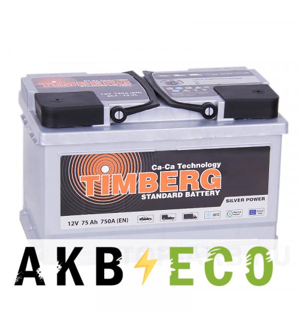 Автомобильный аккумулятор Timberg Silver 75R низкий 750A 278х175х175