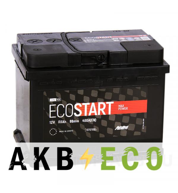 Автомобильный аккумулятор Ecostart 55L (450А 242x175x190)