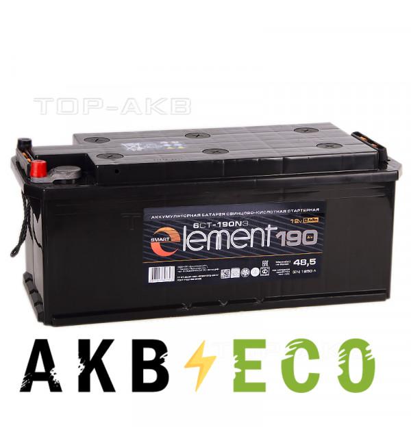 Автомобильный аккумулятор Smart Element 190 рус. 1250A 513x223x223