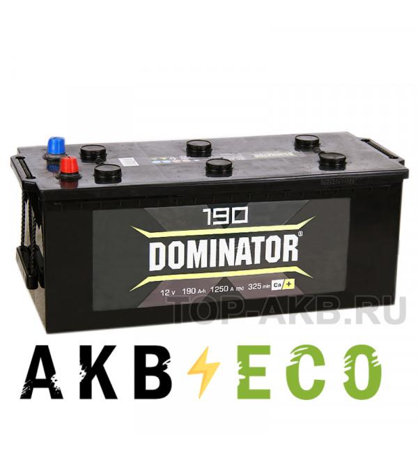 Автомобильный аккумулятор Dominator 190 рус 1300А 518x228x238