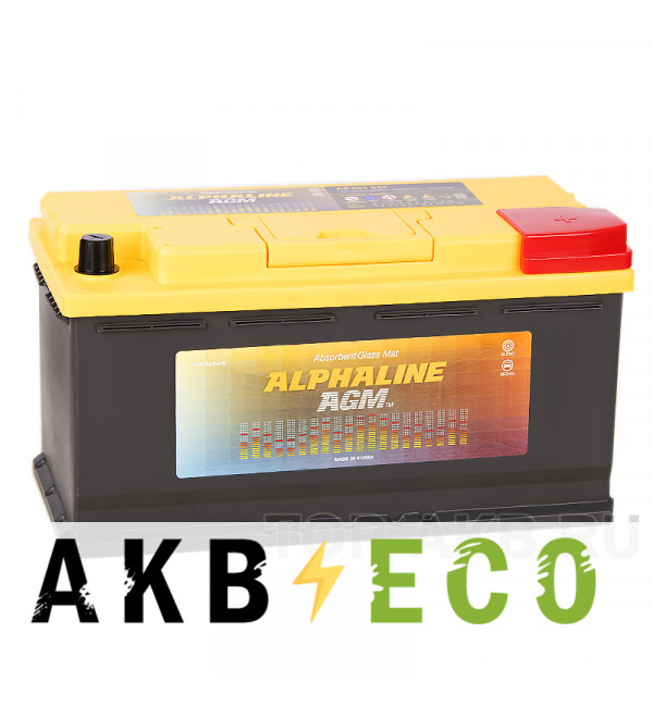 Автомобильный аккумулятор Alphaline AGM 95R 850A 353x175x190 Start-Stop