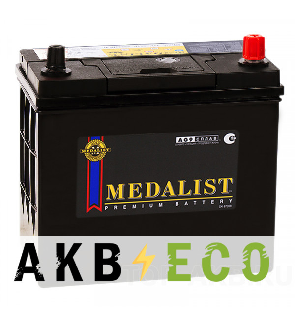 Автомобильный аккумулятор Medalist 70B24L уз. кл.(60R 510A 238x129x227)