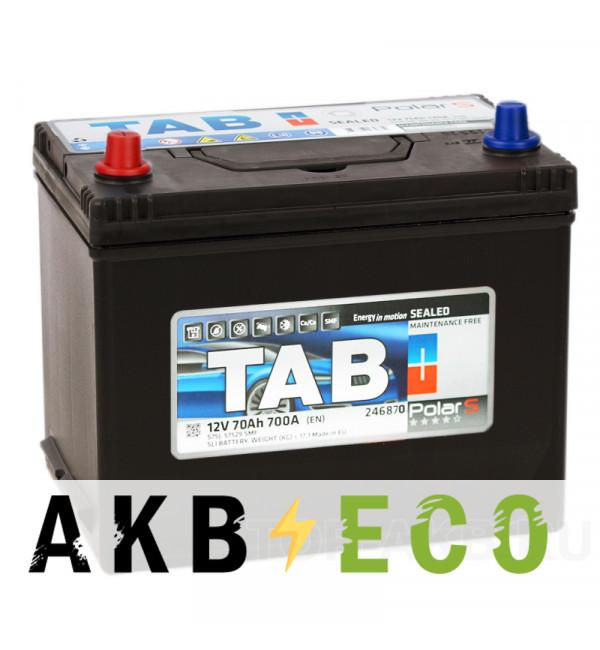 Автомобильный аккумулятор Tab Polar S 70L (700А 261x175x220) D26 прям. 246770 57024