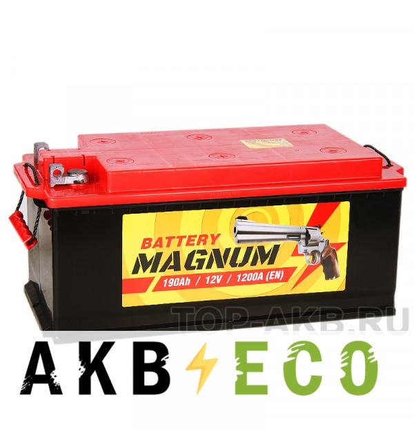 Автомобильный аккумулятор Magnum 190 рус 1150A 513x223x223 клеммы под болт