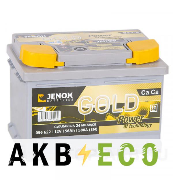 Автомобильный аккумулятор Jenox Gold 56R низкий 580A 242x175x175